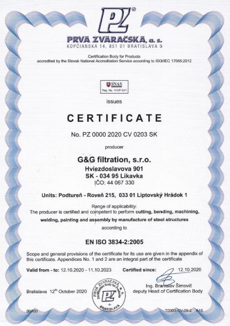 3834-2: 2005 Fúziós hegesztés acélszerkezetek gyártásában
