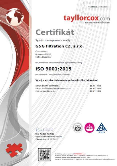 ISO 9001: 2015 Ipari portalanító technológia fejlesztése és gyártása.