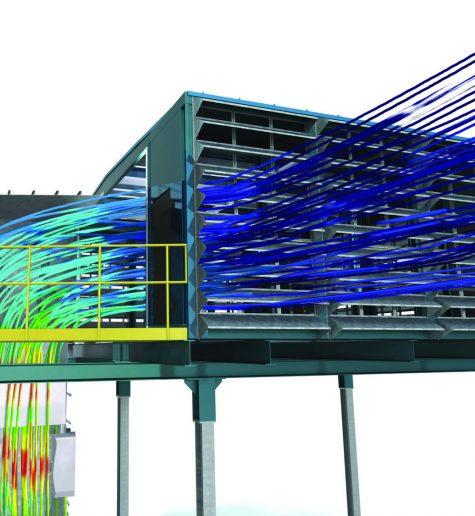 Elszívórendszerek, ipari szűrők CFD optimalizálása